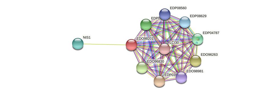 EDO98201 protein (Chlamydomonas reinhardtii) - STRING interaction network