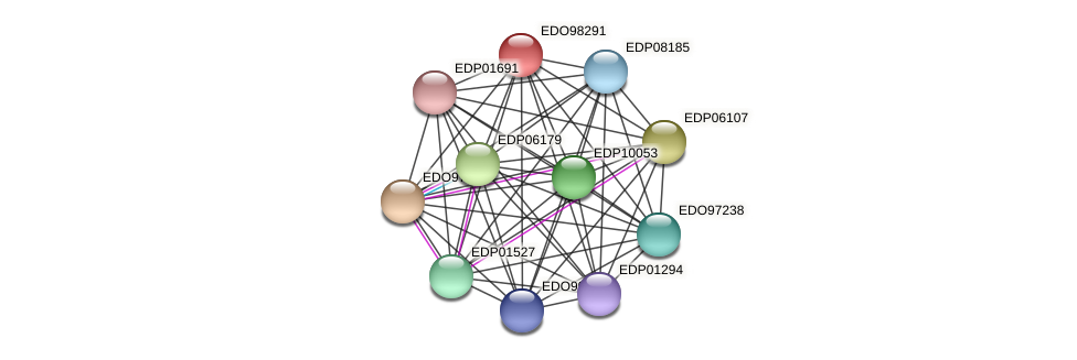 EDO98291 protein (Chlamydomonas reinhardtii) - STRING interaction network