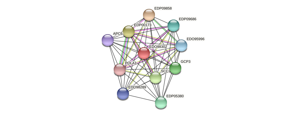 EDO98302 protein (Chlamydomonas reinhardtii) - STRING interaction network