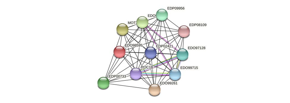 EDO98595 protein (Chlamydomonas reinhardtii) - STRING interaction network