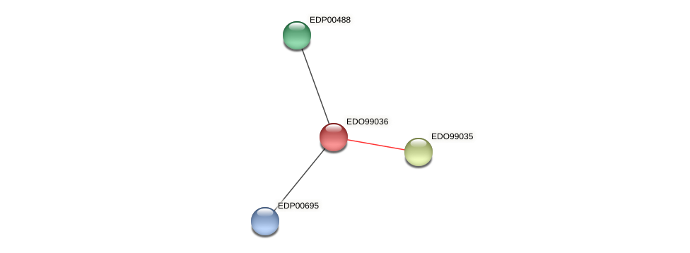 EDO99036 protein (Chlamydomonas reinhardtii) - STRING interaction network