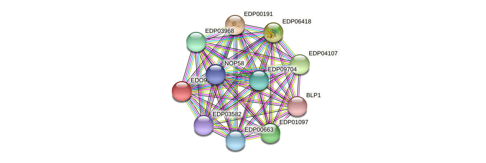 EDO99758 protein (Chlamydomonas reinhardtii) - STRING interaction network