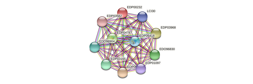 EDP00232 protein (Chlamydomonas reinhardtii) - STRING interaction network