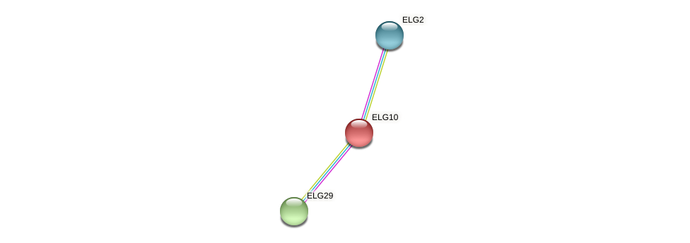 ELG10 protein (Chlamydomonas reinhardtii) - STRING interaction network