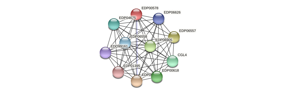 EDP00578 protein (Chlamydomonas reinhardtii) - STRING interaction network