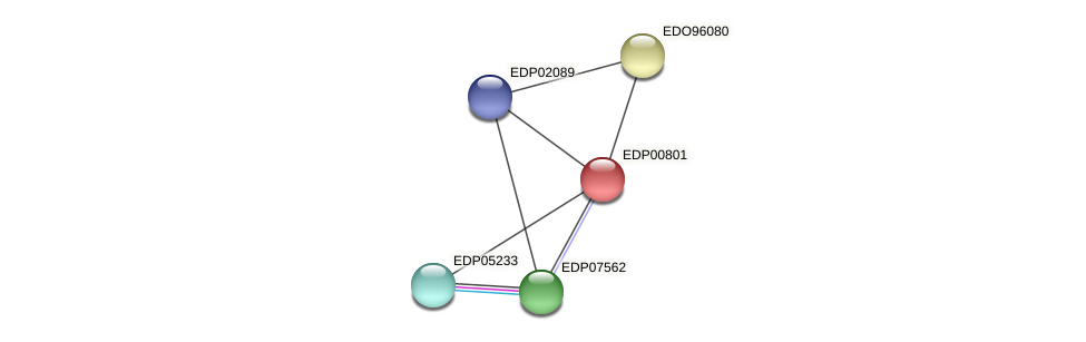 EDP00801 protein (Chlamydomonas reinhardtii) - STRING interaction network