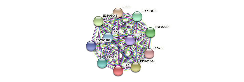 EDP01156 protein (Chlamydomonas reinhardtii) - STRING interaction network