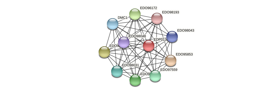 EDP01369 protein (Chlamydomonas reinhardtii) - STRING interaction network