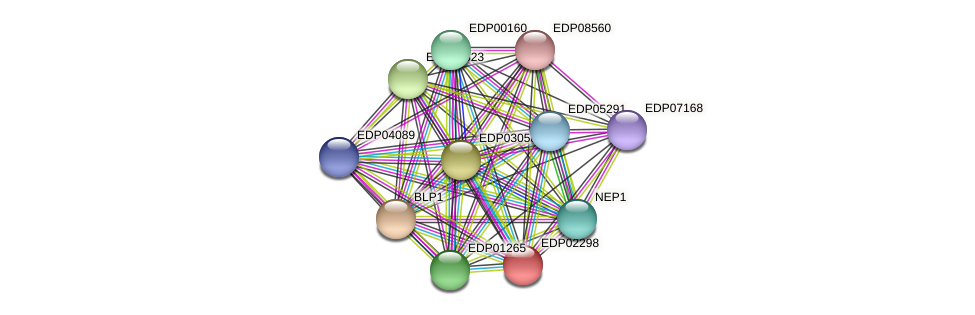 EDP02298 protein (Chlamydomonas reinhardtii) - STRING interaction network