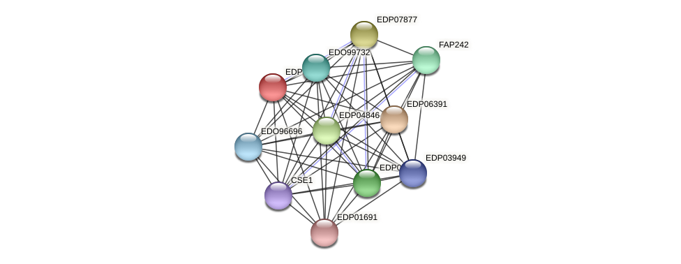 EDP02443 protein (Chlamydomonas reinhardtii) - STRING interaction network