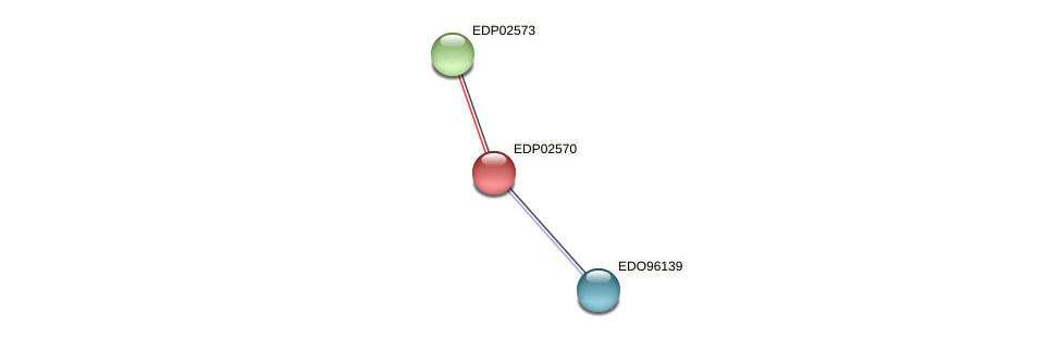 EDP02570 protein (Chlamydomonas reinhardtii) - STRING interaction network