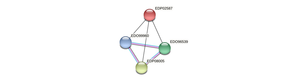 EDP02587 protein (Chlamydomonas reinhardtii) - STRING interaction network