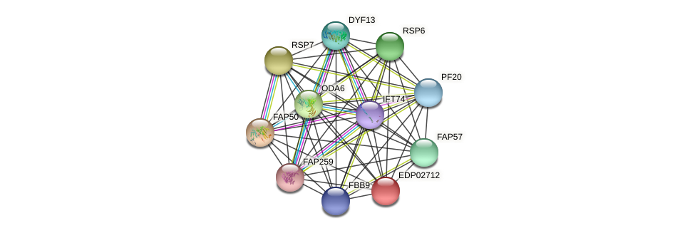 EDP02712 protein (Chlamydomonas reinhardtii) - STRING interaction network