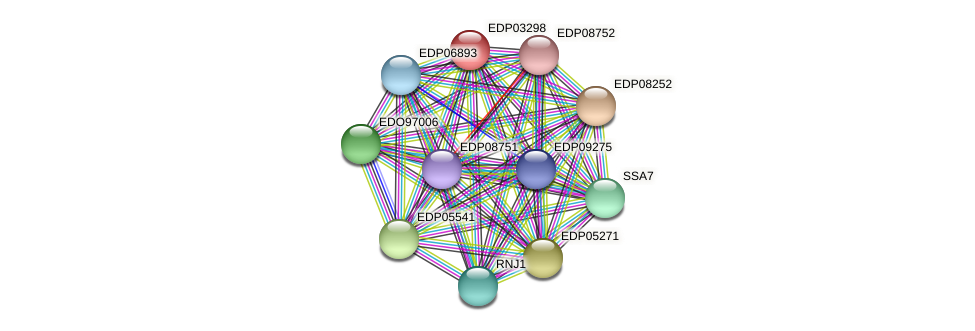EDP03298 protein (Chlamydomonas reinhardtii) - STRING interaction network