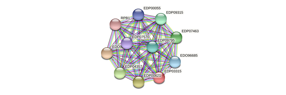 EDP03315 protein (Chlamydomonas reinhardtii) - STRING interaction network