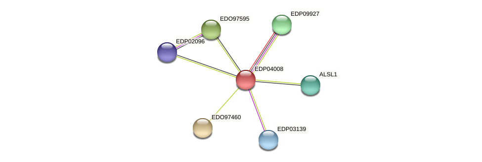 EDP04008 protein (Chlamydomonas reinhardtii) - STRING interaction network
