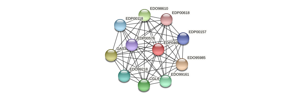 EDP04650 protein (Chlamydomonas reinhardtii) - STRING interaction network