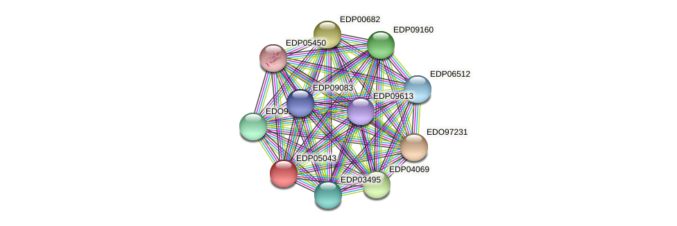EDP05043 protein (Chlamydomonas reinhardtii) - STRING interaction network