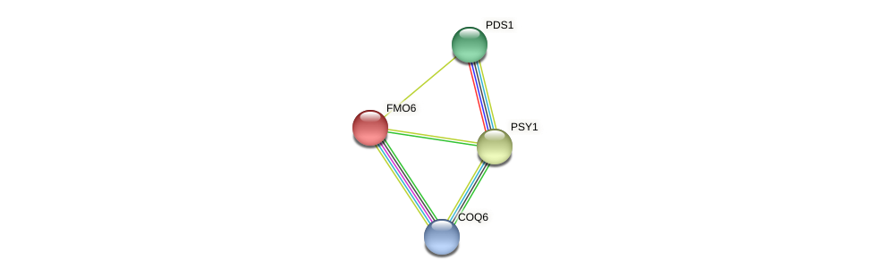 FMO6 protein (Chlamydomonas reinhardtii) - STRING interaction network