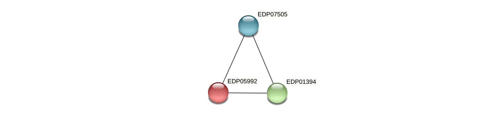 EDP05992 protein (Chlamydomonas reinhardtii) - STRING interaction network