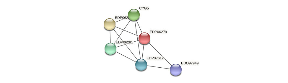 EDP06279 protein (Chlamydomonas reinhardtii) - STRING interaction network