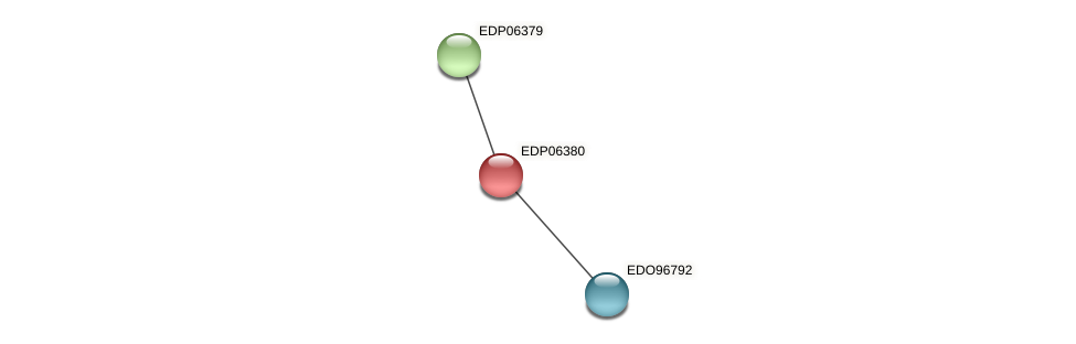 EDP06380 protein (Chlamydomonas reinhardtii) - STRING interaction network