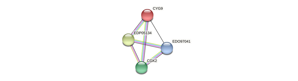 CYG9 protein (Chlamydomonas reinhardtii) - STRING interaction network