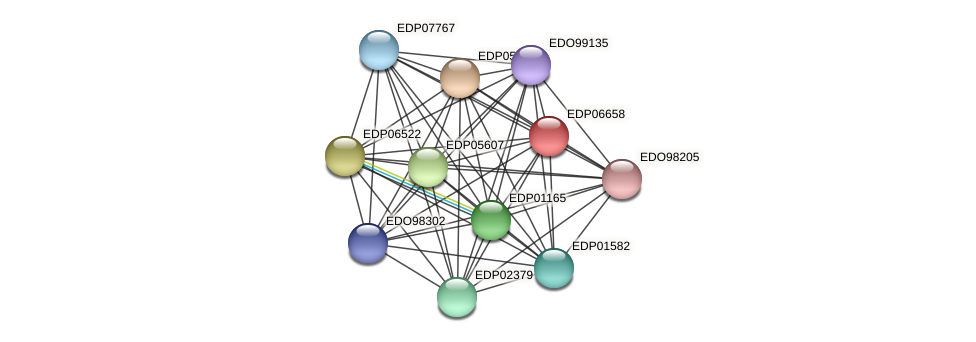 EDP06658 protein (Chlamydomonas reinhardtii) - STRING interaction network
