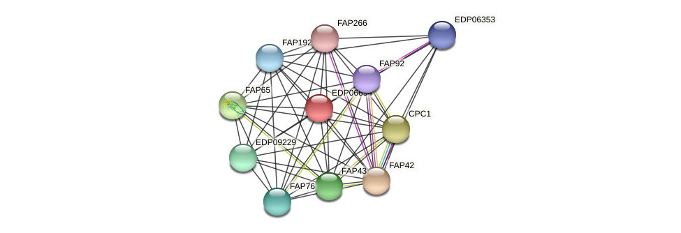 EDP06694 protein (Chlamydomonas reinhardtii) - STRING interaction network