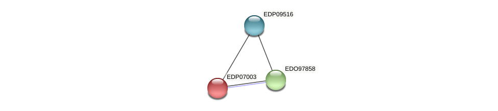 EDP07003 protein (Chlamydomonas reinhardtii) - STRING interaction network