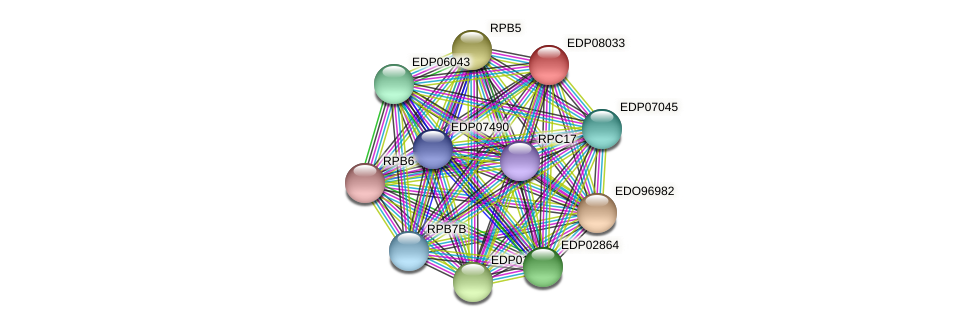 EDP08033 protein (Chlamydomonas reinhardtii) - STRING interaction network