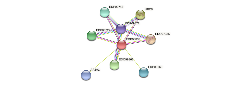 EDP08833 protein (Chlamydomonas reinhardtii) - STRING interaction network