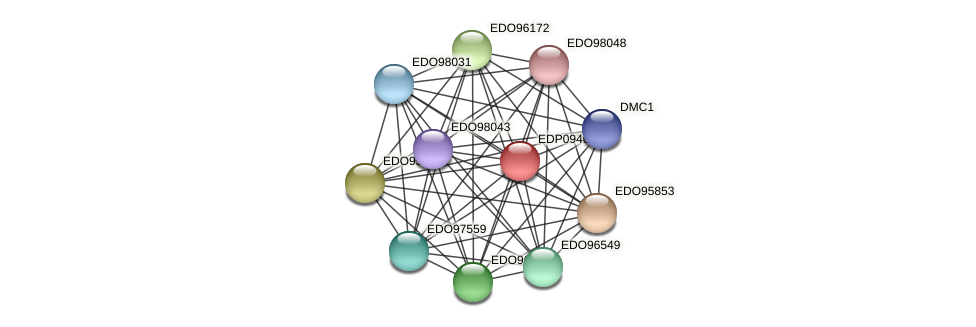 EDP09460 protein (Chlamydomonas reinhardtii) - STRING interaction network