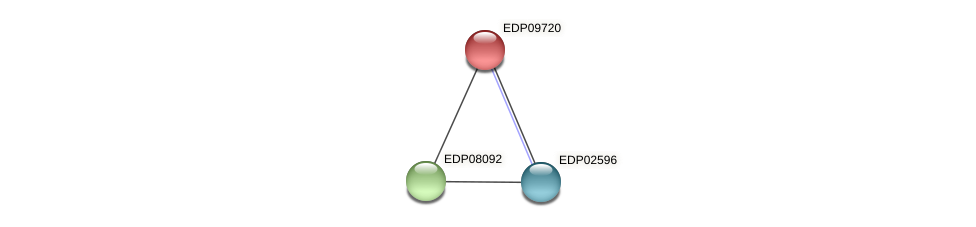 EDP09720 protein (Chlamydomonas reinhardtii) - STRING interaction network