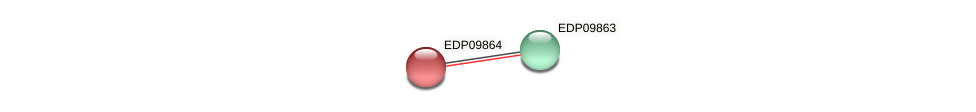 EDP09864 protein (Chlamydomonas reinhardtii) - STRING interaction network