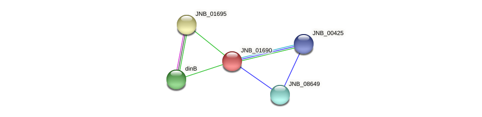 JNB_01690 protein (Janibacter sp. HTCC2649) - STRING interaction network