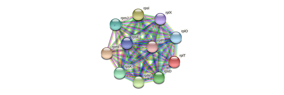 rplT protein (Janibacter sp. HTCC2649) - STRING interaction network