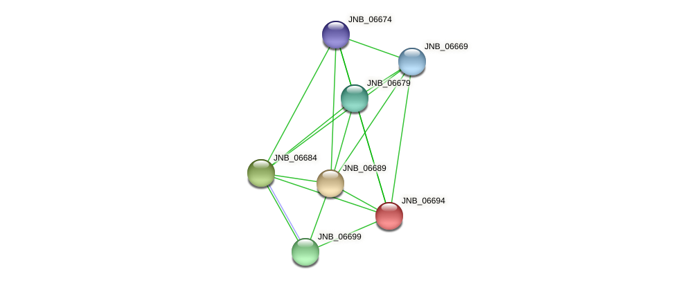 JNB_06694 protein (Janibacter sp. HTCC2649) - STRING interaction network