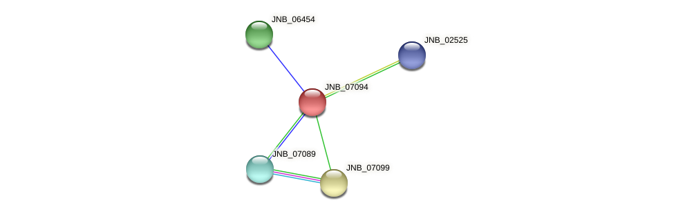JNB_07094 protein (Janibacter sp. HTCC2649) - STRING interaction network
