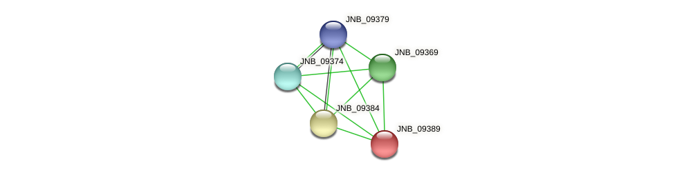 JNB_09389 protein (Janibacter sp. HTCC2649) - STRING interaction network