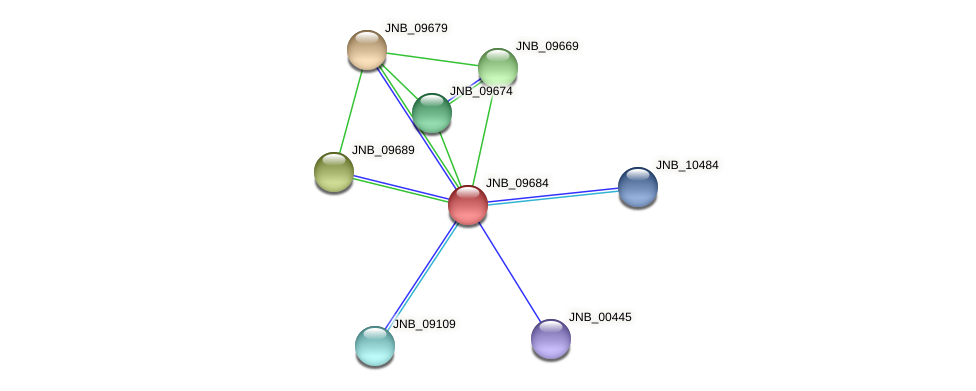 JNB_09684 protein (Janibacter sp. HTCC2649) - STRING interaction network