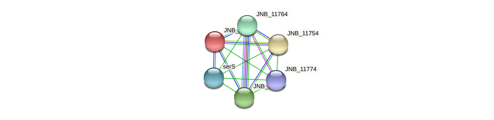 JNB_11759 protein (Janibacter sp. HTCC2649) - STRING interaction network