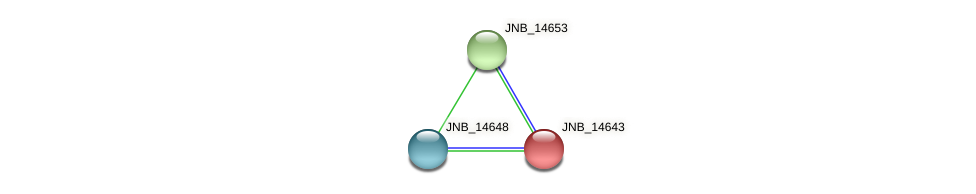 JNB_14643 protein (Janibacter sp. HTCC2649) - STRING interaction network