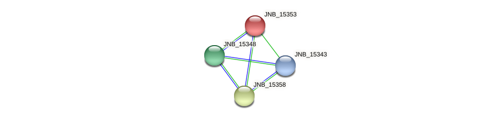 JNB_15353 protein (Janibacter sp. HTCC2649) - STRING interaction network