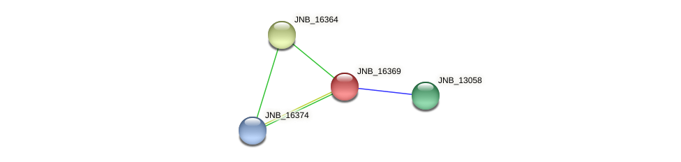 JNB_16369 protein (Janibacter sp. HTCC2649) - STRING interaction network