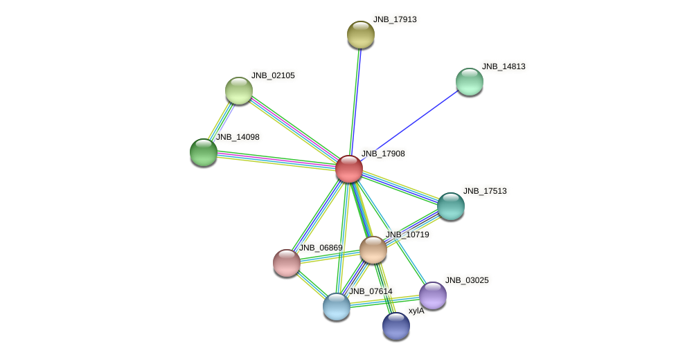 JNB_17908 protein (Janibacter sp. HTCC2649) - STRING interaction network