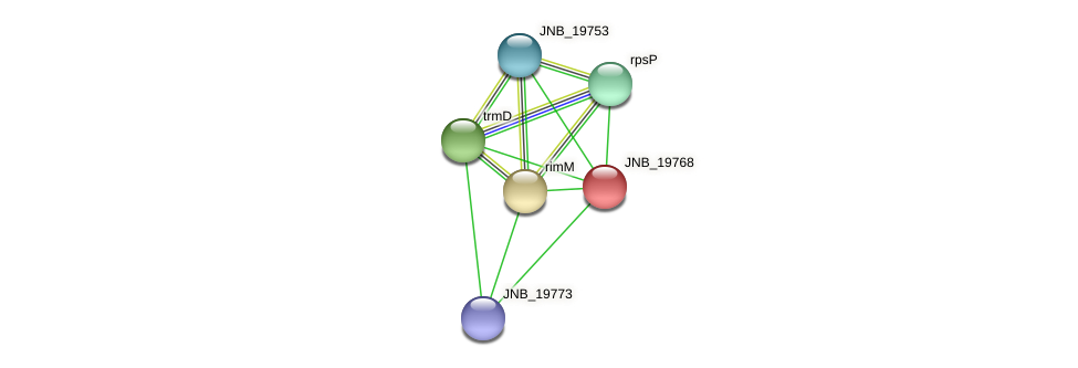 JNB_19768 protein (Janibacter sp. HTCC2649) - STRING interaction network
