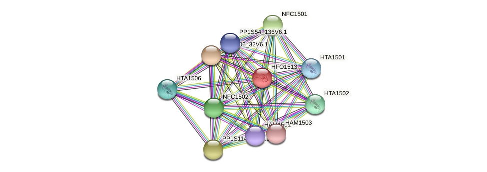 HFO1513 protein (Physcomitrella patens) - STRING interaction network