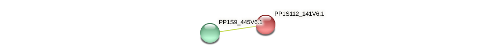 PP1S112_141V6.1 protein (Physcomitrella patens) - STRING interaction network