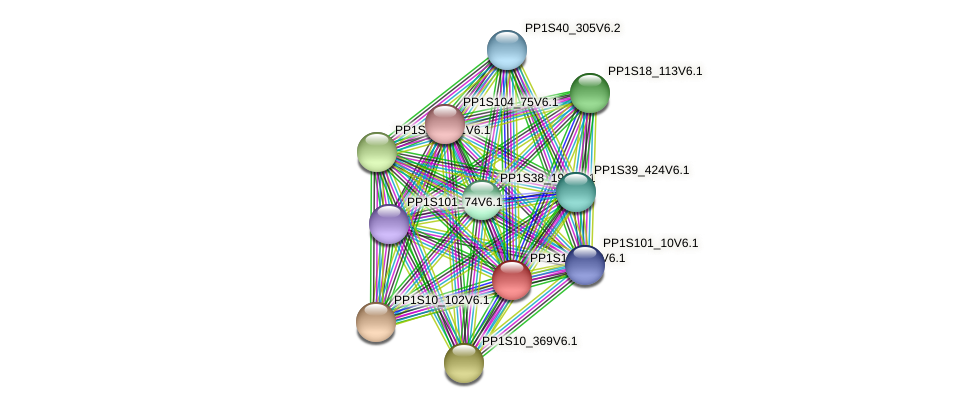 PP1S120_90V6.1 protein (Physcomitrella patens) - STRING interaction network
